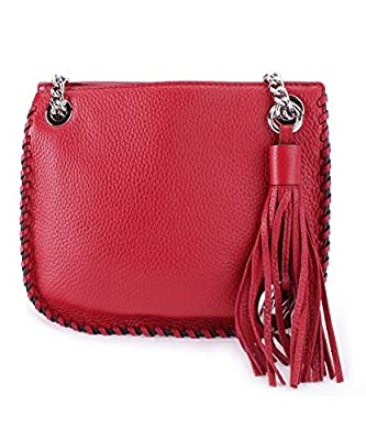 Michael Kors Red Whipped Chelsea Small Leather Messenger Bag $328