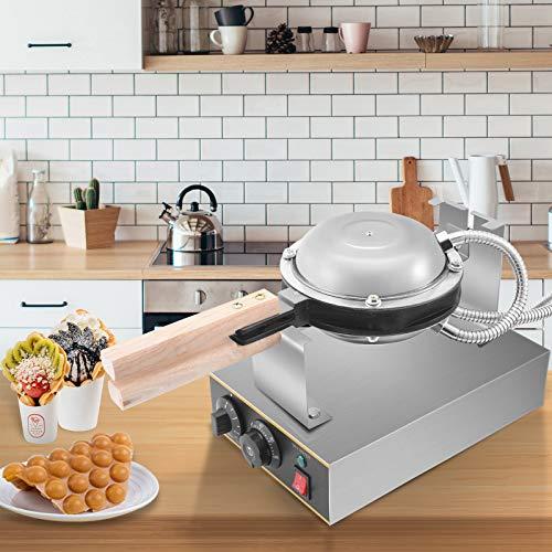 HUKOER 1400W Mini Waffeleisen Maschine Geeignet für Einzelwaffeln Waffle Iron 180 ° drehbare Temperatur Zeit einstellbar,Kann verwendet Werden, um Frühstück Mittagesse Snacks zu Machen