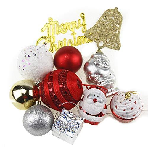 Outgeek Décoration De Noël Suspendue Assortiment De Décoration De Style Arbre De Noël