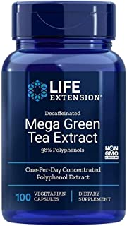 Life Extension Mega Green Tea Extract 98 Polyphenols, 100 veg caps -Decaf