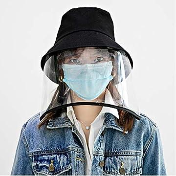 安全保護帽子 つば広 フェイスガード 防風キャップ ハット 飛沫防止 釣り帽子 漁師帽 PM2.5 防ウイルス 防塵 キャップ ファイスカバー UVカット アイデアグッズ 新型コロナウイルス対策