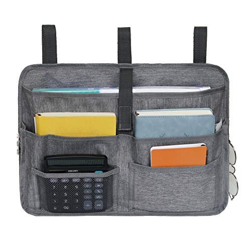 JLDUP 多機能ストレージバッグ サイド収納バッグ ベッドサイドポケット リモコンポケット リモコンラック ソファー掛け袋 小物入れ 吊り下げ収納バッグ 雑貨整理 取り付け便利(グレー)