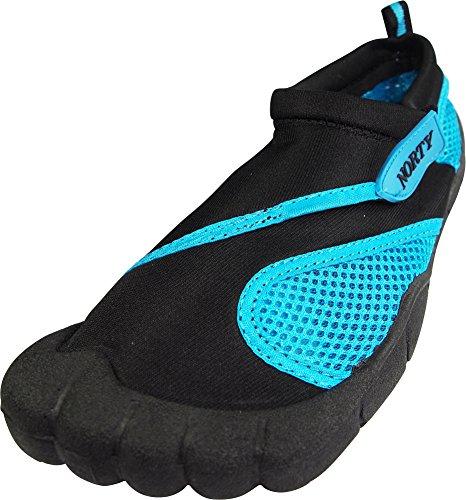 NORTY - Womens Skeletoe Aqua Water Shoe, Black, Turquoise 39393-7B(M) US
