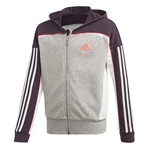 adidas Dziewczęca G Bold FZ HD bluza, szary/liliowy/różowy (brgrin/purnob/Rossen), 116 (5/6 años)