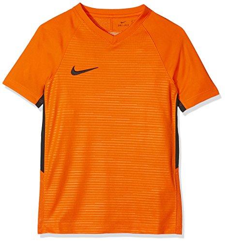 Nike Y NK Dry K Tiempo Premier Ss Jsy T-shirt, Niños, Safety Orange/ Safety Orange/ Black/ Black, M