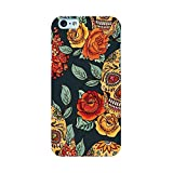 EREMITI JEWELS Cover Personalizzata con Immagine Roses And Skulls Smartphone iPhone 5 5C 6 6S 6 Plus 6S Plus 7 7PLUS 8 8PLUS X XR XS XSMAX (iPhone 7)