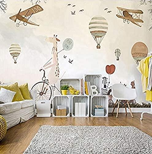 Life Accessories Wholesale Light Cream Free Flying Mural Decoration for Kids Room Nursery Room Mural Custom 3D Paste Living Room The Wall for Bedroom Mural border 400cm times 280cm