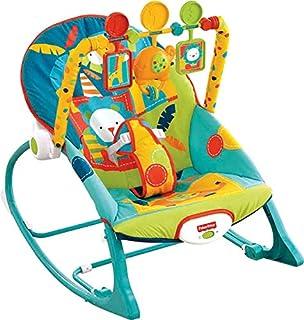 Mecedora para infantes Fisher-Price, Hamaca para niño o niño pequeño, Dark Safari