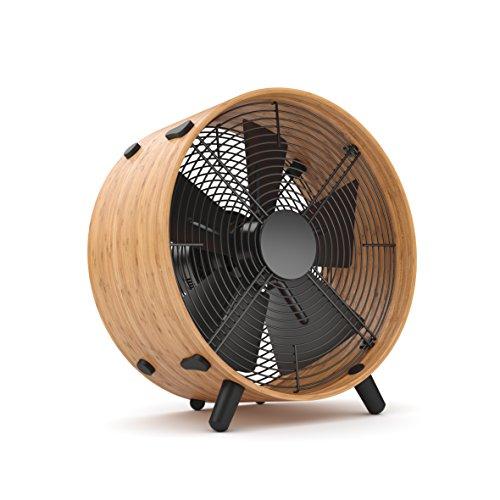 Stadler Form Ventilator Otto, mit modernem  Bambus-Ring, drei Geschwindigkeitsstufen, ideal im Sommer und fürs Büro, 45 W