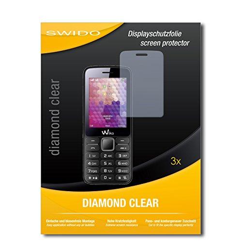SWIDO 3 x Schutzfolie Wiko Riff Bildschirmschutz Folie DiamondClear unsichtbar