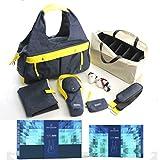 TOTO BAG - Bleu Foncé - Sac de luxe pour couches et allaitement avec de nombreux compartiments, matelas à langer, courroies d'épaules, sac thermos pour bouteille, porte-cartes et plus.