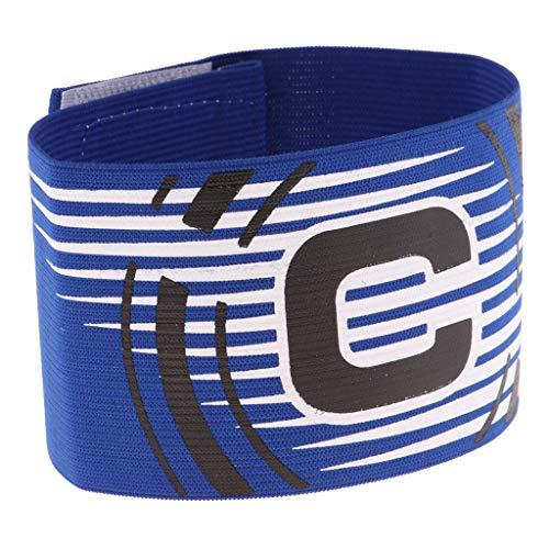 Unbekannt Verstellbare Fussball Armbinde Captain Armband Kapitänsbinde Spielführerbinde für Herren Damen Kinder - Blau