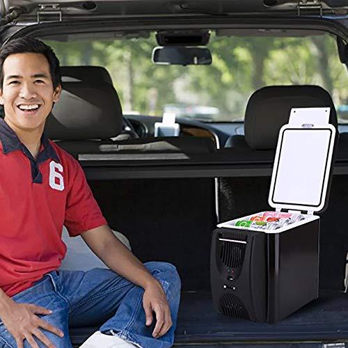 Nevera portátil de 6 litros para coche, refrigerador, congelador, calentador adicional de viaje, nevera