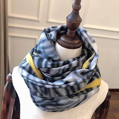YCEOT Sjaal vrouwen herfst en winter nieuwe luipaard lijn sjaal kraag airconditioning handdoek franje vrouwen