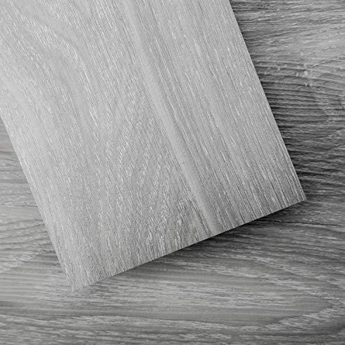 Art3d Peel and Stick Floor Tile Vinyl Wood Plank 54 Sq.Ft, Light Grey, Rigid Surface Hard Core Easy DIY Self-Adhesive Flooring