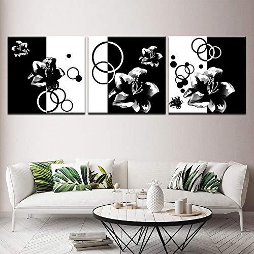 IGZAKER Franse Bulldog Hond HD behang 3 panel Poster en Print Canvas Schilderij Foto voor Woonkamer Home Decor-50x50cmx3pcs geen frame