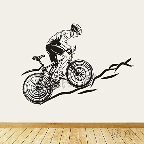 mlpnko Mountainbike Wandaufkleber Fahrradrennen Sport Vinyl Kunst Aufkleber Wand Poster Kunst,CJX15789-42x30cm