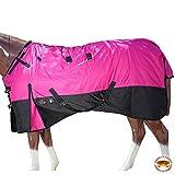HILASON 84' 1200D Ripstop Waterproof Turnout Winter Horse Blanket Pink