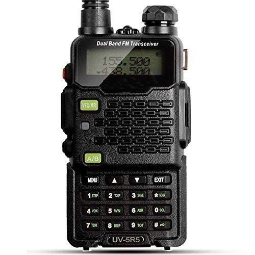 ZUZU Walkie Talkie UV-5R5 5W Dual-Band bidirezionale Ham Radio ricetrasmettitore UHF/VHF 136-174/400-520MHz, 65-108MHz FM con aggiornato Auricolare,A