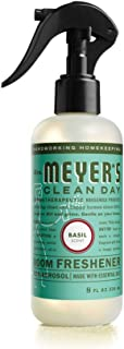 Mrs. Meyer's Clean Day Room Freshener Spray, Instantly Freshens the Air with Basil Scent, 8 oz