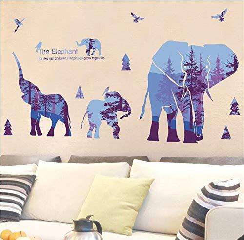 Muursticker, Nordic slaapkamer, bank, achtergrond, decoratie, creatieve dierenfiguur, behang, zelfklevend, breedte 142 x hoogte 78 cm