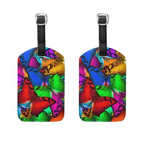 VORMOR Gepäckanhänger (Sortiert, 2 PK),Exotische Mehrfarbenhintergrund-Beschaffenheit machte Vagabund, Gepäckanhänger, Kofferanhänger für Rucksäcke