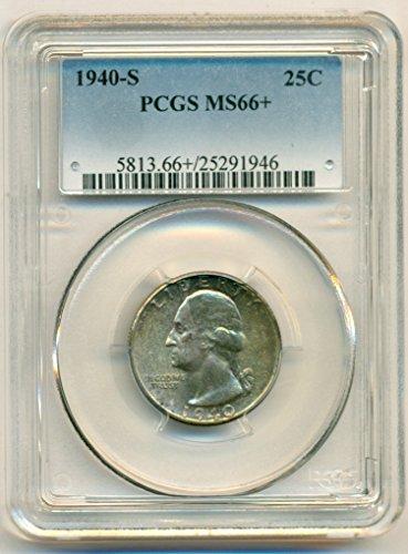 1940 S Washington Quarter MS66+ PCGS