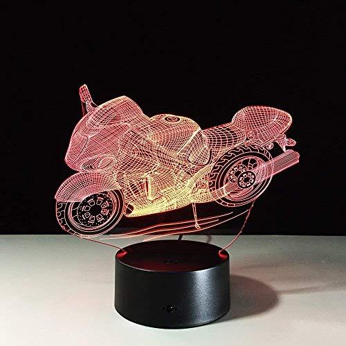 Tafellamp van de motorfiets 3D decoratieve plexiglas plaat-nachtgloeilamp-lamp, beste vakantiegeschenk, nieuw cadeau