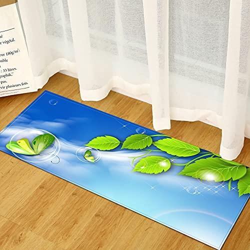 WESG Alfombrillas Antideslizantes de Cocina, Alfombrillas de Entrada para la Sala de Estar del Dormitorio para la decoración del hogar, alfombras Lavables para baño NO.10 50X160cm