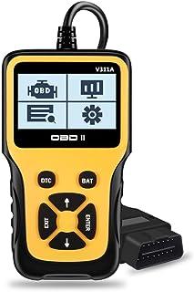 OUK-BT Car OBD2 Scanner, Enhanced Car OBD II Scanner Code Reader Handheld Universal Automotive Fault Diagnostic Tool for O...