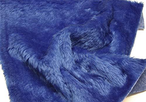 CRS Fur Fabrics Uni Fun Kunstfell Stoff Material Royal Blau