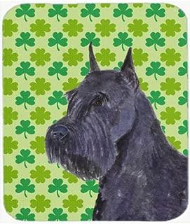 Caroline's Treasures Mouse/Hot Pad/Trivet, Schnauzer Giant St. Patrick's Day Shamrock (SS4454MP)