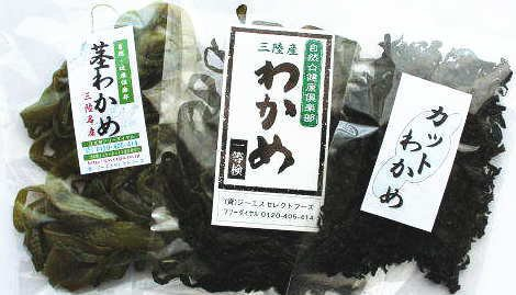 海藻問屋 三陸産 わかめ 3品セット (生わかめ、めひび、カットわかめ) 大船渡産 最高級生わかめ