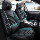 5 fundas de asiento de coche, accesorios para BMW Serie 5 2007 E60 (verde)