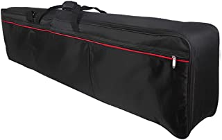 حقيبة حمل لوحة المفاتيح 88 مفتاحاً حقيبة مبطنة بالبيانو الكهربائي مزودة بسحاب إغلاق مع مقبض علوي (حزام حقيبة توصيل عشوائي)