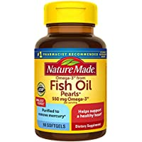 90-Count Nature Made Omega-3 From Fish Oil 550 Mg Softgels