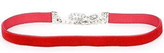 3/8 Plain Velvet Choker Necklace (6 Colors, 5 Adjustable Sizes)