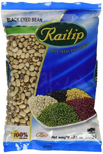 Raitip Augenbohnen, schwarz, getrocknet (Black eye beans), 8er Pack (8 x 300 g)