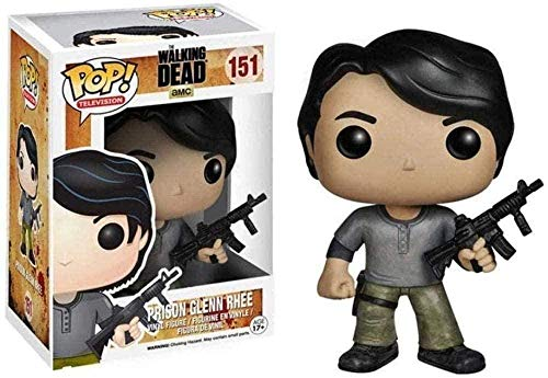 ZSDD Glenn Pop TV Walking Dead Paisaje Decoracion Adornos Resina Artesania Coleccion de munecas
