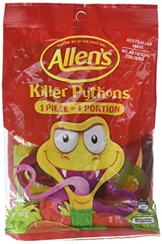ALLEN'S Killer Pythons Gummy Candy, 192 g