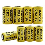 CR2 3V Lithium Battery 1000mAh, Shockli 3 Volt Photo Batteries with PTC Protection (Carry Box Included) -Ideal for Instax Mini 25 50, Flashlight, Alarm Systems, Range Finder(8-Pack)