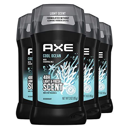 AXE AluminumFree Deodorant for Men With Essential Oils Cool Ocean Aluminum Free 48 Hour Deodorant Protection 3 oz 4 Count