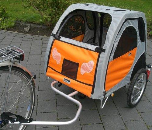 Comfort Wagon Petego L gefederter Fahrradanhänger mit Aluminiumrahmen für Hunde, Liegefläche 90x70cm