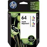 HP 64 Original Ink Cartridge - Combo Pack - Tri-Color, Black