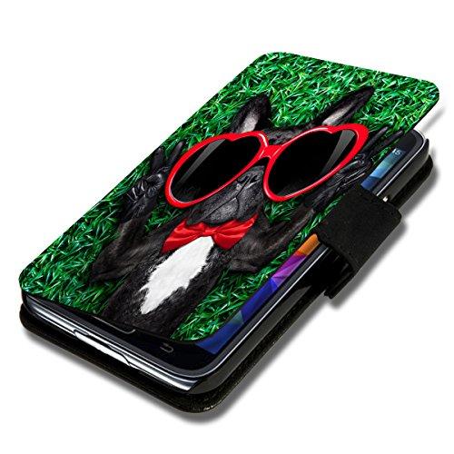 wicostar Book Style Flip Handy Tasche Hülle Schutz Hülle Schale Motiv Etui für Wiko Birdy - Flip 1X16 Design10