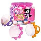 Candy Ring anillos de caramelo comprimido bote de 120 unidades