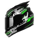 DYOYO Casco Modular Moto Casco Moto Integral Casco de Motocicleta ECE Homologado Casco Integral Transpirable Universal para Hombre Mujer para Ciclismo Motocicleta Bici Carrera(58-61cm)