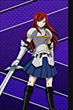 Composition Notebook: Limited Edition - Erza Scarlet Red Hair Anime Manga Series Fan's Notepad | Lined Ruled Blank Diary to Write Notes: Daily Writing Journal