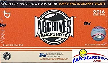 2016 Topps Archives Snapshots Baseball EXCLUSIVE Factory Sealed HOBBY Box with AUTOGRAPH Parallel! Look for Autographs of Kris Bryant, Ken Griffey, Bryce Harper, David Ortiz, Cal Ripken & Many More!