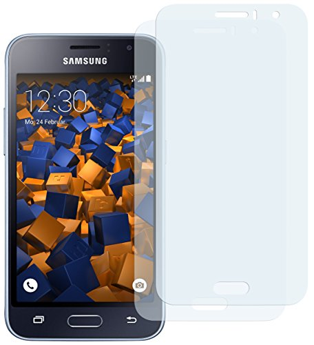 mumbi Schutzfolie kompatibel mit Samsung Galaxy J1 2016 Folie klar, Bildschirmschutzfolie (2X)